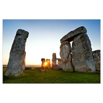 Stonehenge at sunrise Poster