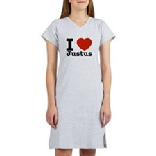 I Love Justus Women's Nightshirt