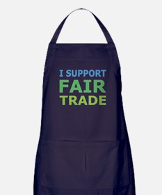 I Support Fair Trade Apron (dark)