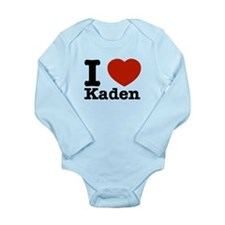 I Love Kaden Long Sleeve Infant Bodysuit