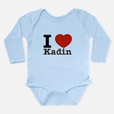 I Love Kadin Long Sleeve Infant Bodysuit