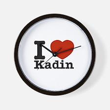I Love Kadin Wall Clock