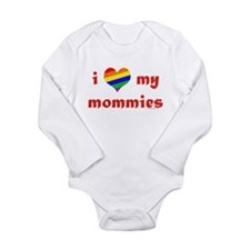 i heart my mommies copy Body Suit