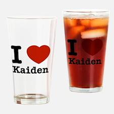 I Love Kaiden Drinking Glass