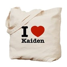 I Love Kaiden Tote Bag