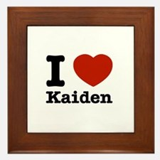 I Love Kaiden Framed Tile