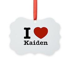 I Love Kaiden Ornament