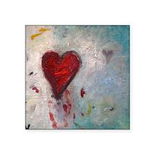 "Bleeding Heart Square Sticker 3"" x 3"""