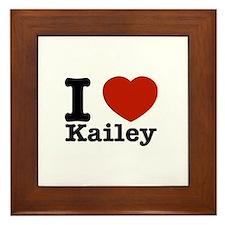 I Love Kailey Framed Tile