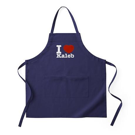 I Love Kaleb Apron (dark)