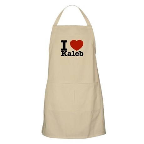 I Love Kaleb Apron