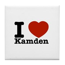 I Love Kamden Tile Coaster
