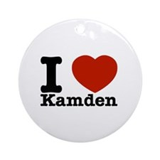 I Love Kamden Ornament (Round)