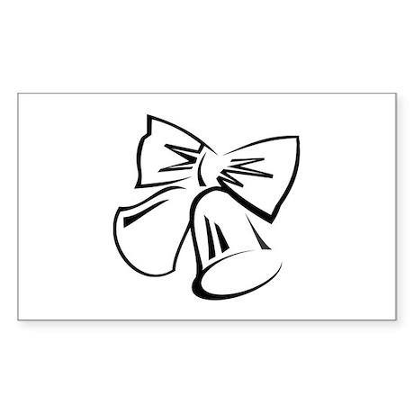 Wedding Bells Sticker (Rectangle 10 pk)