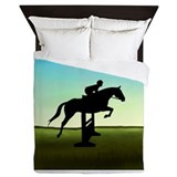 Jumping horse Duvet Covers