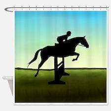 Hunter Jumper Grassy Field Shower Curtain