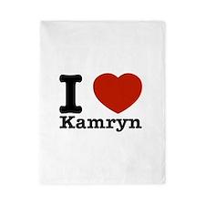 I Love Kamryn Twin Duvet