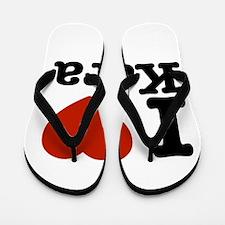 I Love Kara Flip Flops