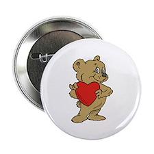 """Bear Heart 2.25"""" Button (10 pack)"""