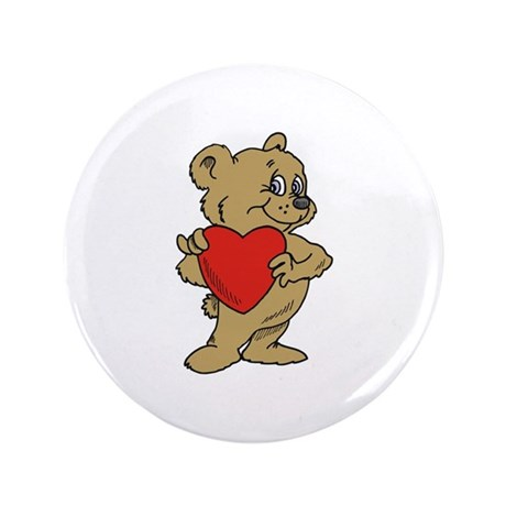 "Bear Heart 3.5"" Button (100 pack)"