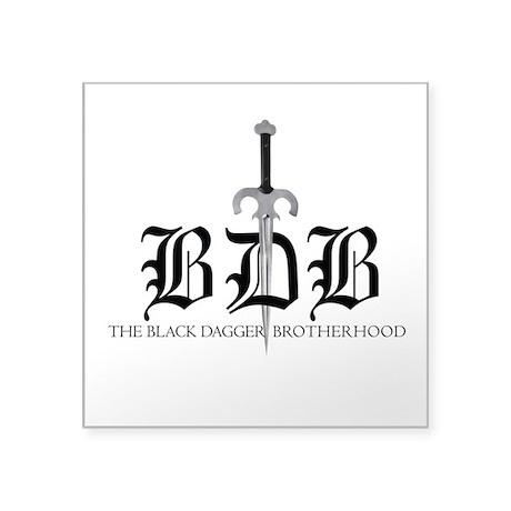 "BDB Dagger Logo Square Sticker 3"" x 3"""