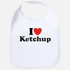 I Love Ketchup Bib