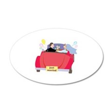 Just Married 22x14 Oval Wall Peel