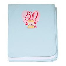50th Anniversary baby blanket