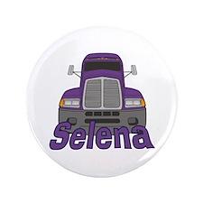 "Trucker Selena 3.5"" Button"