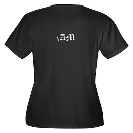 MINE iAm Women's Plus Size V-Neck Dark T-Shirt