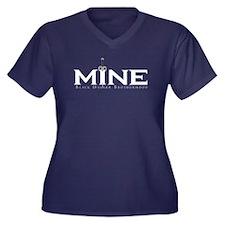 MINE Rhage Women's Plus Size V-Neck Dark T-Shirt