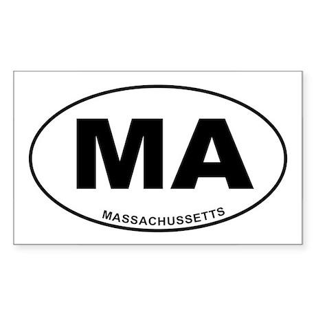 Massachussetts State Sticker (Rectangle)