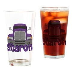 Trucker Sharon Drinking Glass