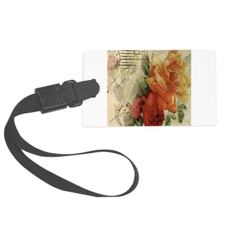 VINTAGE PARIS ROSES Large Luggage Tag
