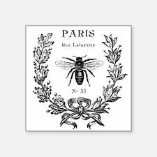 "PARIS BEE Square Sticker 3"" x 3"""