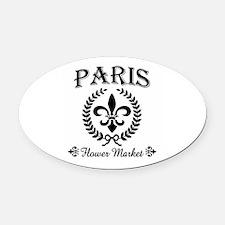 PARIS FLOWER MARKET Oval Car Magnet