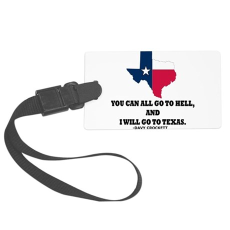 DAVY CROCKETT Large Luggage Tag