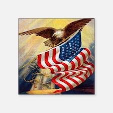 """eagleflagjournal.jpg Square Sticker 3"""" x 3"""""""