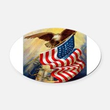 eagleflagjournal.jpg Oval Car Magnet