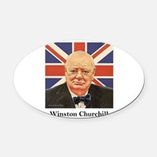 churchillphoto.png Oval Car Magnet