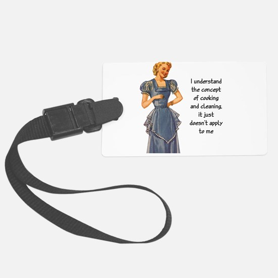 COOKING AND CLEANING Large Luggage Tag