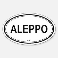 Aleppo, Syria euro Oval Decal
