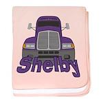 Trucker Shelby baby blanket