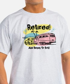 Retro Trailer Retired T-Shirt