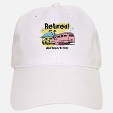 Retro Trailer Retired Baseball Baseball Cap