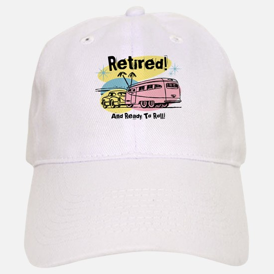Retro Trailer Retired Baseball Baseball Cap