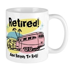 Retro Trailer Retired Small Mug
