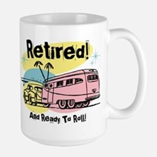 Retro Trailer Retired Ceramic Mugs