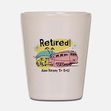 Retro Trailer Retired Shot Glass