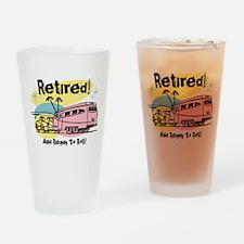 Retro Trailer Retired Drinking Glass